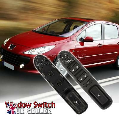 Driver Side Master Door Window Control Switch Fit for Peugeot 307 2003-2014