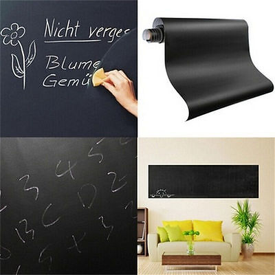 2 Metre x 53cm Self Adhesive Blackboard Chalk Board Paper Wall Sticker Board