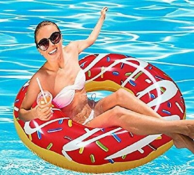 Donut Ring Pool Inflatable SwimRing Ride on kids blow up toy Doughnut Swim Ring