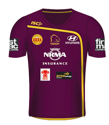 Brisbane Broncos Training Tee Mulberry Adult