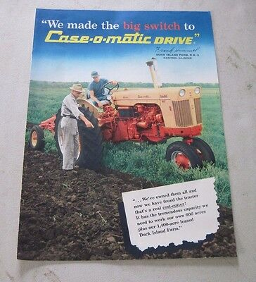 1959 J.I. Case Racine, Wis. Case Tractors large four page ad