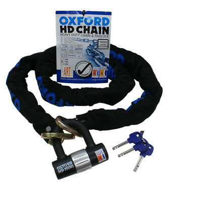 Oxford Hd Motorcycle Motorbike Bike Heavy Duty Chain And Disc Lock 2M 9.5Mm