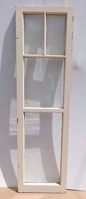 Antique 4-Lite Casement Window Cabinet Cupboard Door Vintage 60x17 462-17R