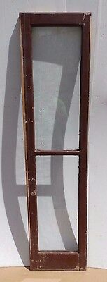 Antique 2-Lite Single Sidelight Transom Door Window Sash Vintage 464-17R