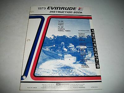 1979  Evinrude (Johnson) 70-75 Outboard Oem Service Shop Manual Clean