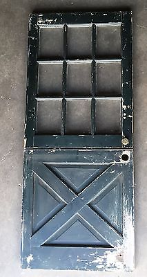 Vtg 34x80 Dutch Door 9 Lite Top Old Shabby Cottage Exterior Entry 259-17E