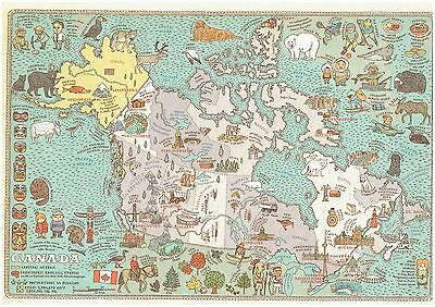 Cartoon Pictograph Cartograph Map of Canada Detailed facts about the region