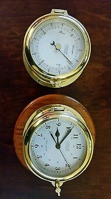 weems and plath ships bell clock and barometer