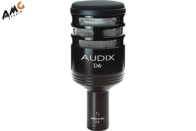 Audix D6 Professional Kick Drum Mic Cardioid Microphone D-6 30Hz-15kHz Frequence