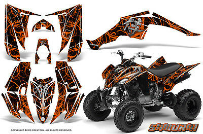 Yamaha Raptor 350 Graphics Kit Creatorx Decals Stickers Samurai Ob