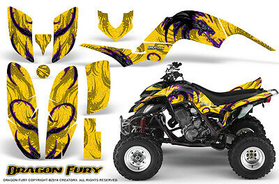 Yamaha Raptor 660 Graphics Kit Creatorx Decals Stickers Dragon Fury Pry
