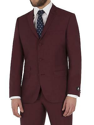 Suit Direct Aston & Gunn Burgundy Mohair Suit 0047283