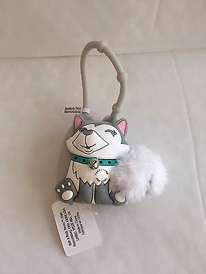 Bath & Body Works HUSKY Holiday Dog Flashing Light Up PocketBac Holder