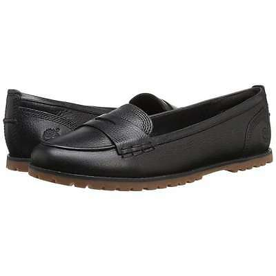 59e247bda2c Timberland Women s Joslin Penny Loafer Slip-On Leather Flat Shoes Black New