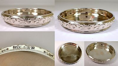 Vtg 40s Edward San Giovanni Sterling Silver Flower Champagne Bottle Wine Coaster