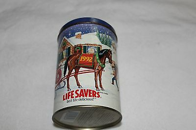 Vintage 1992 Lifesavers 80 Delicious Years Limited Edition Holiday Keepsake Tin