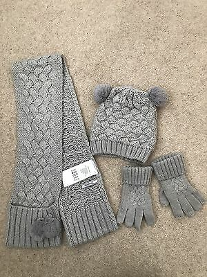 Girls Mayoral Glove, Hat And Scarf Set