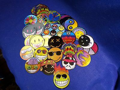 60 Vintage Vending Machine Happy Face Stickers Assorted Types    D