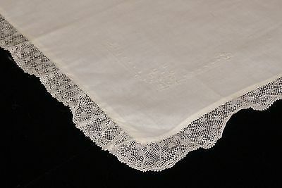 Vintage Net Lace Embroidered Boudior Pillow Cover Case