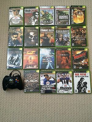 Microsoft Xbox game lot 19 Games + 1 Original fat controller
