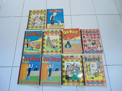 oor wullie and the broons books vintage 70s job lot bundle