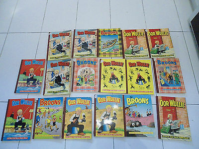 oor wullie and the broons books vintage 80s joblot bundle x17
