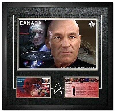 Star Trek 2017 Limited Edition Framed Print Captain Picard  U.s.s.enterprise-D