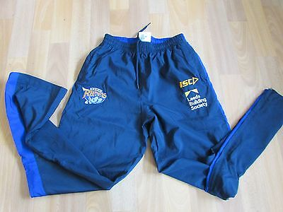 ISC LEEDS Rhinos RUGBY League  Building Society TRACK Suit Bottoms CHILD Age 14