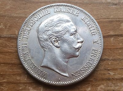 1895-A Prussian Germany silver 5 Marks @@ must see@@@