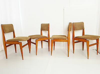 Suite 4 Chairs 1950 Design French Vintage Years 50 Rockabilly 50's
