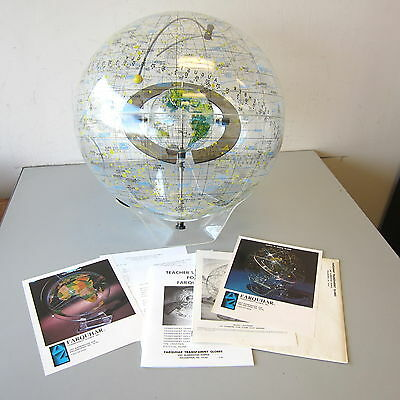 "Vintage Farquhar Transparent Celestial Earth-In-Space 20"" Lucite Globe w/Base"