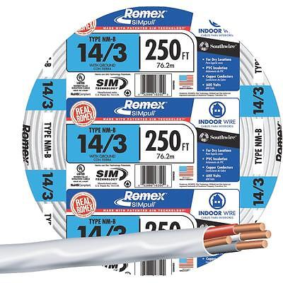 Southwire 250' 14-3 Nmw/G Wire