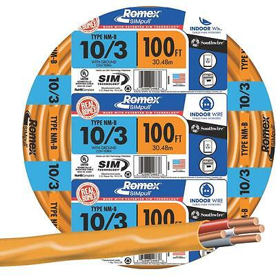 Southwire 100' 10-3 Nmw/G Wire
