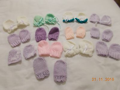 New Hand Crochet Or Knitted Baby Mittens
