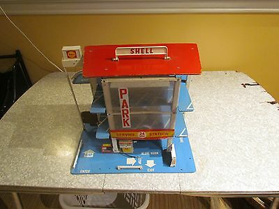 Vintage Shell Gas Service Station Toy (est 1969-70ish)