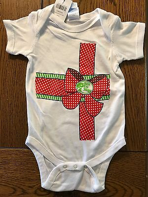 *NWT BASS PRO SHOPS* Girls Christmas Package Gift Bow Crawler Bodysuit  6 Months