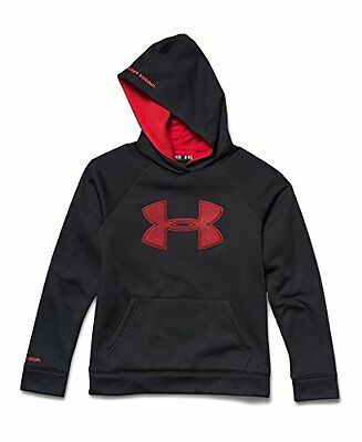 Under Armour Boys Fleece Storm Hoodie 1259690-001 - Black/Red - Large