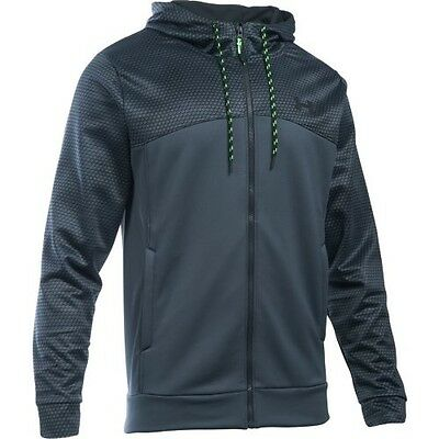 Under Armour 1280753-008 Icon Full Zip Hoodie - Stealth Grey/Black-XX-Large