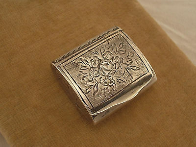 Antique Silver Hand-Engraved Pill / Snuff Box