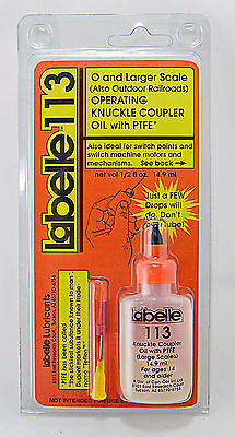 Labelle Lubricants - O Scale & Larger Operating Knuckle Coupler Oil w/PTFE