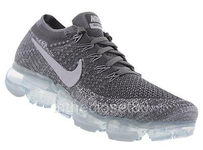Nike Air VaporMax Asphalt Dark Grey Pure Platinum Flyknit Mens 849558‌ 002