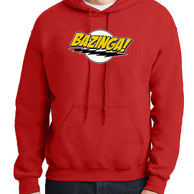 The Big Bang Theory BAZINGA STRIPE SHELDON COOPER Pullover Hoodie NEW Official