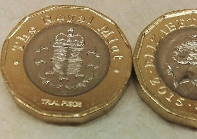 Royal Mint £1 TRIAL PIECE New 2017 12 Sided One Pound Coin 2015  Rare
