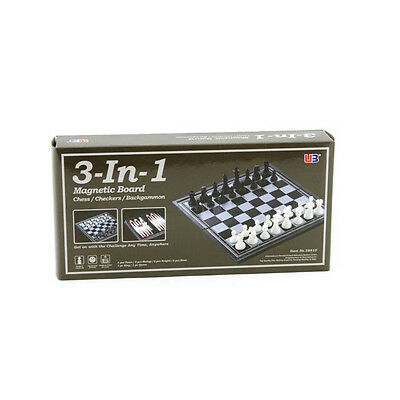 New 30 cm Magnetic 3 in 1 Chess Checkers Backgammon Board game