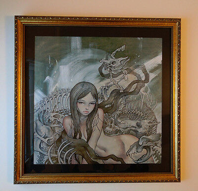 Audrey Kawasaki Charlotte Signed Framed Limited Ed. Matted Art Print Giclee