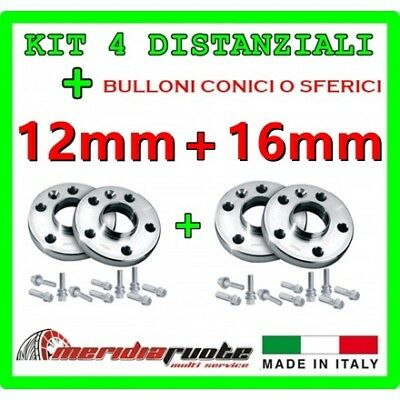KIT 4 DISTANZIALI PER CITROEN DS3 /- RACING (S) 2010+ PROMEX ITALY 12mm + 16mm S