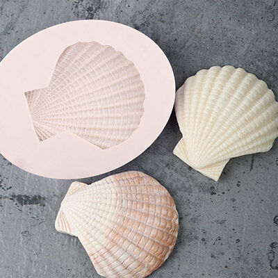 3D Shell Silicone Fondant Cake Mould Candy Chocolate Baking Craft Tool