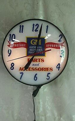 GM Factory Approved Parts & Accessories Advertising Clock ~ Restored