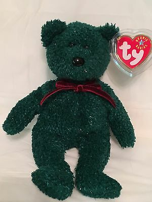 TY Beanie Baby - 2001 HOLIDAY BEAR - Pristine with Mint Tags - RETIRED