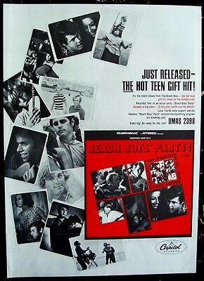 THE BEACH BOYS 1965 Poster Ad PARTY